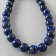 Lapis round gemstone beads (N) Approximate size 6mm to 6.5mm 15 inch