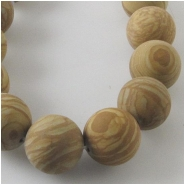 Picture Jasper matte finish round gemstone beads (N) Approximate size 11mm 11.6 to 11.9mm 15 inch