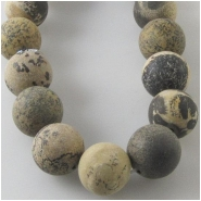 Chinese Picture Jasper matte finish round gemstone beads (N) Approximate size 9 to 10mm 15.5 inch