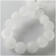 Quartz matte finish round gemstone beads (N) Approximate size 9.5 to 10.5mm 15 inch