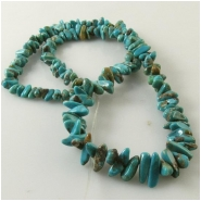 Turquoise Carico Lake graduated nugget gemstone beads (N) Approximate size 2.8 x 4.5mm to 4 x 11mm 16 inch