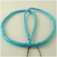 Turquoise Sleeping Beauty graduated heishi gemstone beads (S) Approximate size 3.2 to 5.7mm diameter 18 inch