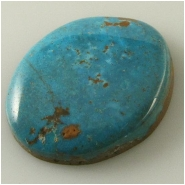 1 Turquoise Turquoise Mountain cabochon gemstone (N) Approximate size 23 x 29 x 5.7mm deep. Backed.