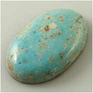 1 Turquoise Turquoise Mountain cabochon gemstone (N) Approximate size 22 x 33 x 7.3mm deep. Backed.