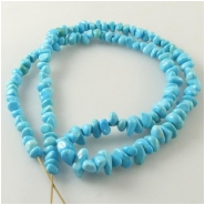 Turquoise Sleeping Beauty graduated pebble nugget Zachery process gemstone beads Approximate size 3.8 x 4.3mm to 5.5 x 9mm 18 inch