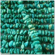 Turquoise Fox 24 inch graduated nugget gemstone beads (N) 4 to 13mm