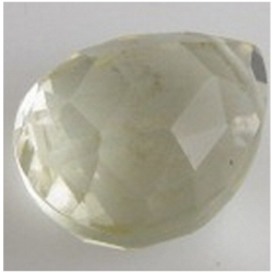 1 Lemon Quartz faceted drop briolette bead 14mm gemstone bead (H) CLOSEOUT
