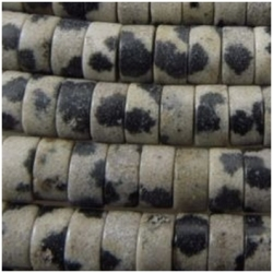 Dalmatian Jasper heishi 4mm   gemstone beads (N) CLOSEOUT
