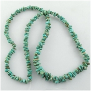 Turquoise Carico Lake nugget 6 to 9.5mm gemstone beads (N)
