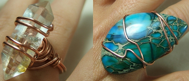 Wire wrapped ring tutorial for How to make rock jewelry