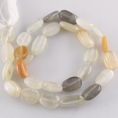 Moonstone multi color irregular oval gemstone beads (N ...