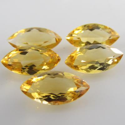 1 Citrine Faceted Marquise Loose Cut Gemstone H