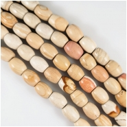 Wood Jasper Barrel Gemstone Beads (N) Approximate Size 11 x 14mm 15.5 inches