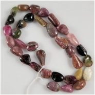 Tourmaline Tumbeled Nugget Gemstone Beads (N) Approximate Size 10.8 x 11.2mm to 9.4 x 18.4mm 16.5 inches read description