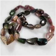 Tourmaline Tumbeled Nugget Gemstone Beads (N) Approximate Size 9.2 x 11.8mm to 9.75 x 18mm 18 inches Read description