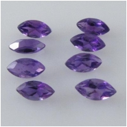10 Amethyst faceted marquise loose cut gemstones (N) Approximate size 2.5 x 5mm