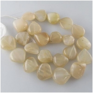 Moonstone light peach drop gemstone beads (N) Approximate size range 11 x 12mm to 16 x 17mm 14 inch