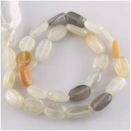 Moonstone multi color irregular oval gemstone beads (N) Approximate size range 8 x 10mm to 9 x 18mm 14.5 inch