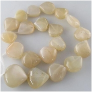 Moonstone light peach drop gemstone pendant beads (N) Approximate size range 15 x 16mm to 21 x 21mm 14 inch