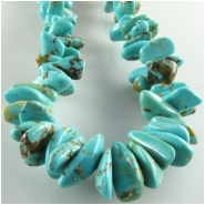 Turquoise Kingman graduated nugget gemstone beads (S) Approximate size 3.6 x 4mm to at least 6.5 x 13mm 16 inch