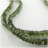 4 Moldavite rustic faceted rondelle gemstone beads (N) Approximate size 4 to 4.5mm