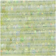 Opal Ethiopian A rondelle gemstone beads (N) Approximate size 2.1 to 2.9mm 14 inch