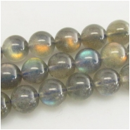 4 Labradorite AAA round gemstone beads (N) Approximate size 9mm diameter