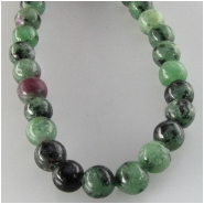 Ruby in Zoisite round gemstone beads (N) Approximate size 4mm 15.5 inch