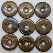 1 Tiger Iron Donut Gemstone (N) Approximate size 49.39 to 50.28mm