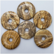 1 Picture Jasper Donut Gemstone (N) Approximate size 48.51 to 49.72mm