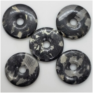 1 Silver Leaf Jasper Donut Gemstone (N) Approximate size 48.62 to 49.64mm