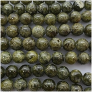 Green Garnet Round Rough Cut Gemstone Beads (N) Approximate size 9.99 to 10.48mm 7.75 inches
