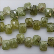 10 Green Garnet Faceted Rectangle Briolette Gemstone Bead (N) Approximate size7.1 to 7.6mm x 8.99 to 9.42mm