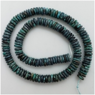 Turquoise Hubei irregular Disc Gemstone Beads (S) Approximate size 8.10 to 9.03mm 16.25 inches