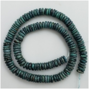 Turquoise Hubei irregular Disc Gemstone Beads (S) Approximate size 8.03 to 9.22mm 16.25 inches