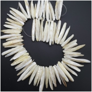 Mother Of Pearl Top Drilled Stick Shell Beads (N) Approximate size 3.41 to 28.30mm to 10.91 x 53.71mm 16 inches