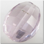 1 Amethyst puff oval gemstone bead (N) 12 to 13.6mm
