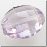 1 Amethyst puff oval gemstone bead (N) 12 to 13.3mm