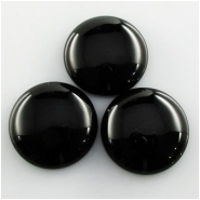 3 Black Onyx A round gemstone cabochons (DH) Approximate size 20mm