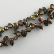 Pearls brown gold keishi beads (D) Approximate size 5 x 7mm to 8 x 10mm 15 inch