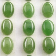 4 Nephrite Jade AA oval gemstone cabochons loose cut (N) Approximate size 5 x 7mm