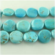 Turquoise Hubei  irregular coin gemstone beads (S) Approximate size 11 to at least 14mm 15.5 inch