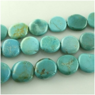 Turquoise Hubei  irregular coin gemstone beads (S) Approximate size 12 to at least 13mm 16 inch