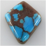 1 Turquoise Persian cabochon gemstone (S) Approximate size 18.1 x 21.3 x 5.5mm deep Backed.