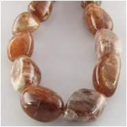 Sunstone nugget gemstone beads (N) Approximate size 10 x 11mm to at least 11 x 18mm 15.5 inch
