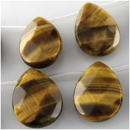 10 Tiger Eye AA faceted drop briolette gemstone beads (N) Approximate size 15 x 20mm