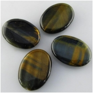 4 Tiger Eye AA dark multi color oval pendant gemstone beads (N) Approximate size 20 x 30mm