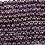 Amethyst Round Gemstone Beads (N) Approximate size 8 to 8.3mm, 7.75 inches