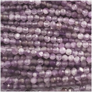 Amethyst Faceted Round Gemstone Bead (N) Approximate size 3 to 3.3mm, 15.25 inches