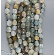 Aquamarine Rounded Nugget Bead (N) Approximate size 16.75 x 13.6mm to 12 x 11mm, 15.5 to 16 inches